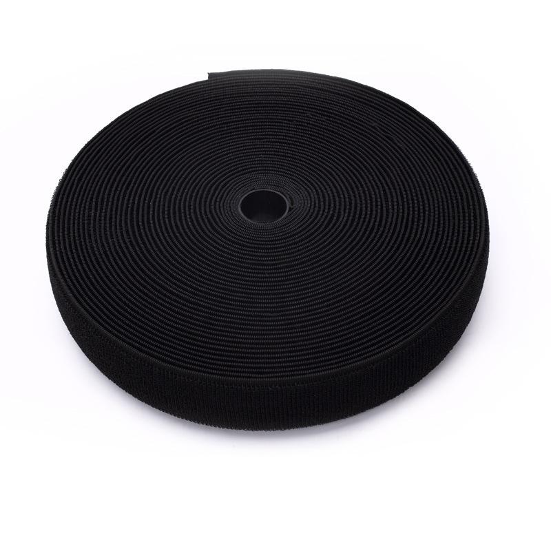 DEHE Khoá dán Ưu đãi đặc biệt pha trộn băng dính Velcro Velcro 2.5CM màu đen thông số kỹ thuật bán b