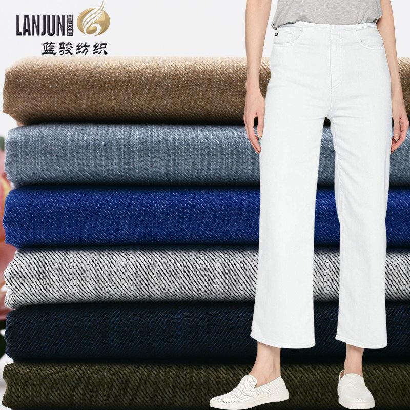 LANJUN Vải cotton pha polyester Polyester / cotton pha trộn cao co giãn tre siro vải dệt bán buôn rắ