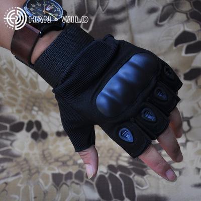Găng tay chống cắt  Hanye bán buôn O kỷ lục nửa ngón tay chiến thuật găng tay chống trượt lực lượng