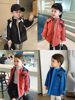 Áo khoác trẻ em Chen Ma Boy Wear 2019 Fall Winter Wear New Children Workcoat Jacket Men Baby Cotton