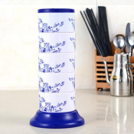 Cookever  Hũ nhựa Hộp gia vị dọc xoay hộp gia vị sáng tạo nhà bếp gia vị chai nồi nhựa gia vị chai