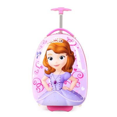 VaLi hành lý Trường hợp xe đẩy trẻ em vali nữ phổ bánh xe công chúa dễ thương hoạt hình vali 16 inch