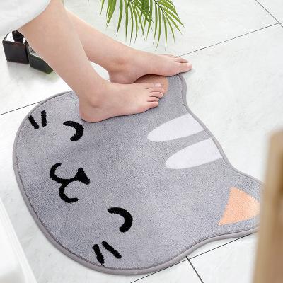 Đệm chân Nhật Bản hình dạng động vật mới đổ xô thảm phim hoạt hình Phòng tắm gia đình nhà vệ sinh cử