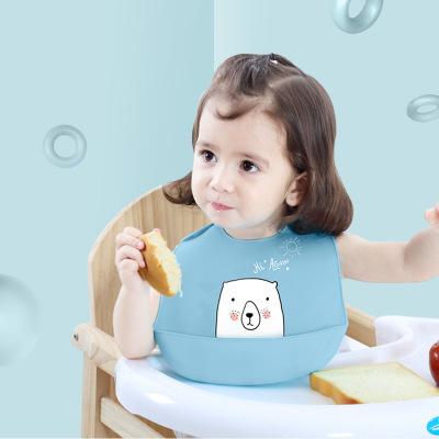 Khăn yếm Em bé silicon ăn bib trẻ em không thấm nước thực phẩm ba chiều cơm bib bib trẻ lớn nước bọt