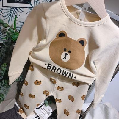 Đồ ngủ trẻ em Mùa thu dễ thương của bộ phim hoạt hình mới cotton phục vụ nhà cho trẻ em bộ đồ ngủ nh