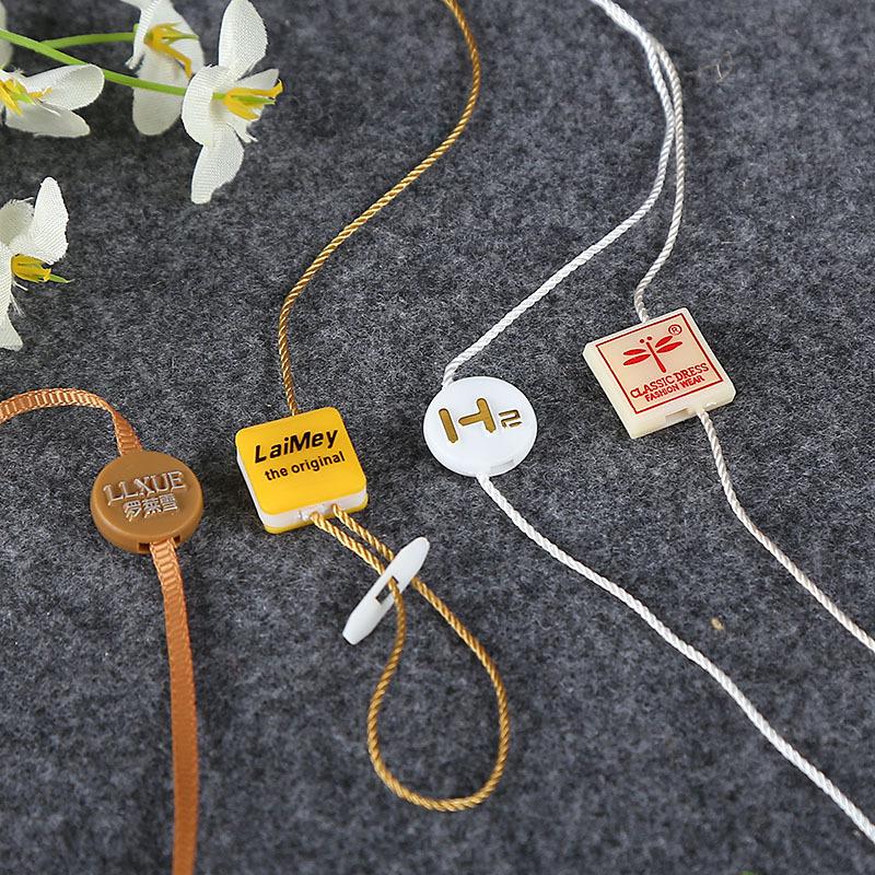 YUYUAN Chuỗi tag , Tag logo Dây chuyền treo hạt nhựa polyester Hai trong một danh sách quần áo dập n