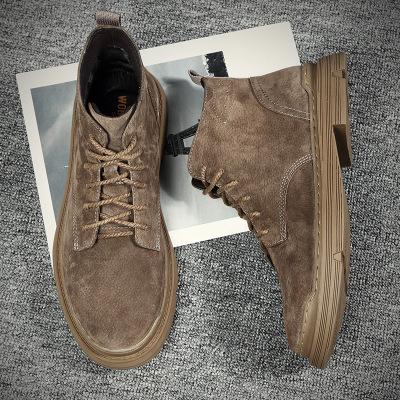 Giày Sneaker / Giày trượt ván Martin boot nam 2019 mùa thu và mùa đông mới có dụng cụ cao để giúp gi