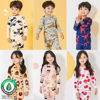 Đồ ngủ trẻ em 19 mùa thu và mùa đông Quần áo trẻ em Hàn Quốc unifriend quần áo trẻ em nhà trẻ em gái