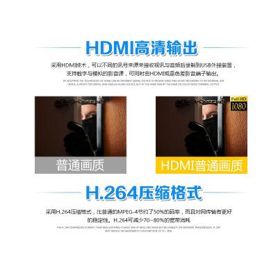 Đầu ghi hình camera  Máy chủ giám sát đồng trục DVR HD 16 kênh 16 kênh AHD ba trong một thời gian th