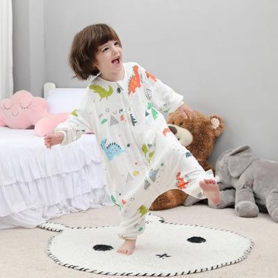 Túi ngủ trẻ em Túi ngủ cho bé gầy mùa hè mỏng mùa xuân và mùa thu cotton bốn mùa Chân bé phòng điều