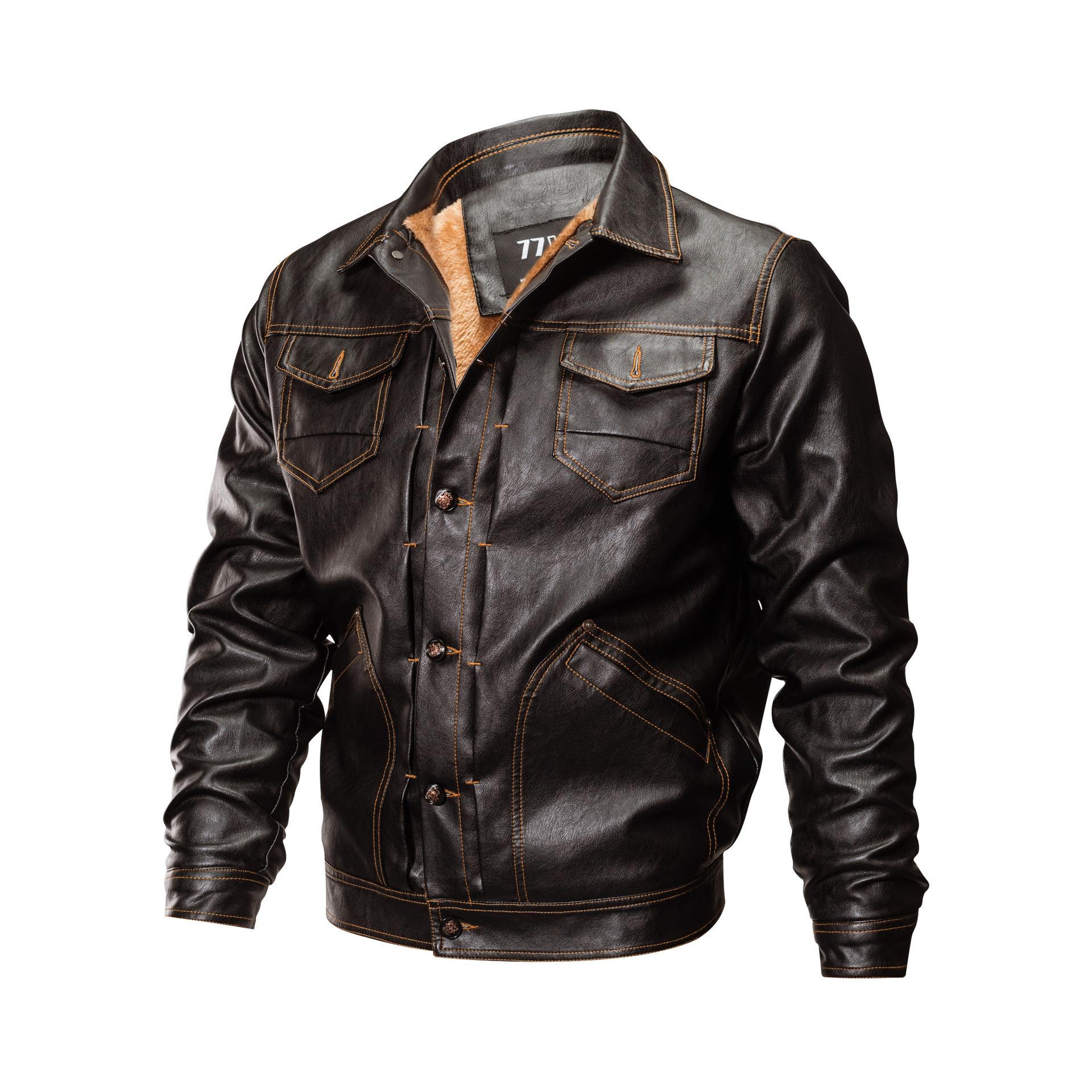 Áo khoác 18 áo khoác da ngoại thương xuyên biên giới áo khoác mùa thu cộng với nhung dày lên nhiều t