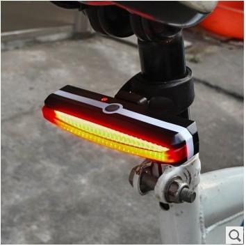 Đèn xe Đèn cảnh báo cuối năm 2266 Đèn hậu xe đạp leo núi từ đèn hậu sạc USB Đèn hậu xe đạp