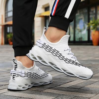 Giày lưới Giày nam đế xuồng mùa thu 2019 mới màu trắng giày lưới giản dị mặt thủy triều hoang dã già