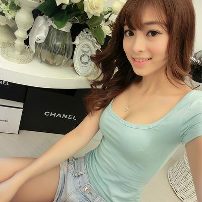 áo thun Mùa hè 2018 mới của phụ nữ phiên bản Hàn Quốc của áo thun ngắn tay ngắn nữ gợi cảm.