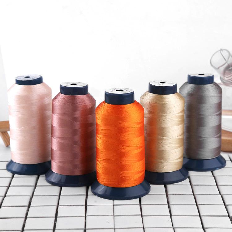 Chỉ thêu Nhà máy dệt trực tiếp hàng dệt may polyester tùy chỉnh chỉ may quần áo nguyên liệu tùy chỉn