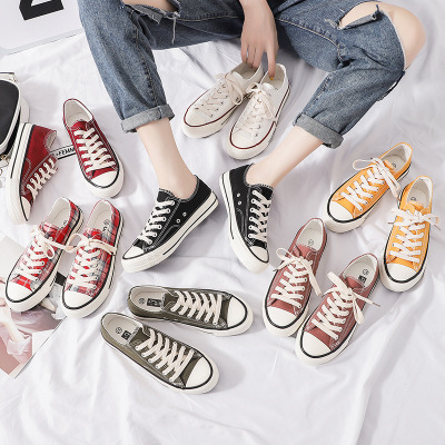 giày vải Nhà máy sản xuất giày vải cổ điển ba lưu hóa trực tiếp bán buôn thập niên 1970 đôi giày nữ