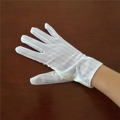 Găng tay bảo hộ Găng tay PU chống tĩnh điện, găng tay sọc trắng chống lưu huỳnh màu trắng vàng, chốn