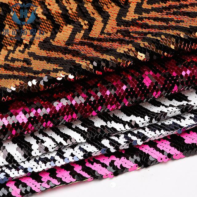 HONGJI đồ trang trí trang phục Off-the-shelf 5 PCT mẫu ngựa vằn phân cực thêu sequin Hạt cườm đen và