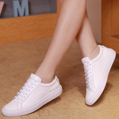 Giày Sneaker / Giày trượt ván Giày da nam Anh nhỏ màu trắng thể thao Harajuku Giày da nữ cỡ lớn Giày