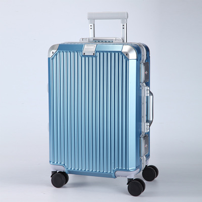 VaLi hành lý Mô hình dọc khung nhôm xe đẩy trường hợp gương phổ bánh xe hành lý nam và nữ hợp kim nh