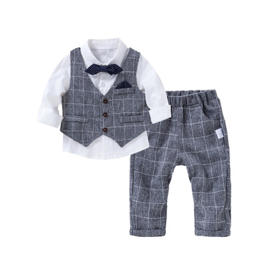 Đồ Suits trẻ em Dance Ling Butterfly Children Wear Baby One Piece Hare 2019 Autumn New Male Baby Gre