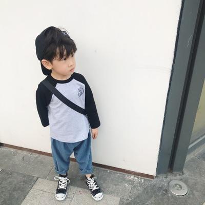 Áo thun trẻ em Mùa thu 2019 mới tay áo raglan trẻ em Nhật Bản trong chiếc áo thun cotton trẻ em