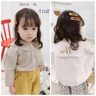 Áo Sơ-mi trẻ em Mùa xuân và thu đông 2019 Trẻ em mặc mới cho bé gái Hàn Quốc Áo thêu lớn mùa thu 190