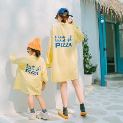 Áo thun gia đình Quần áo trẻ em mèo nhỏ lười biếng 2019 mùa thu trẻ em mới Hàn Quốc trang phục trẻ e