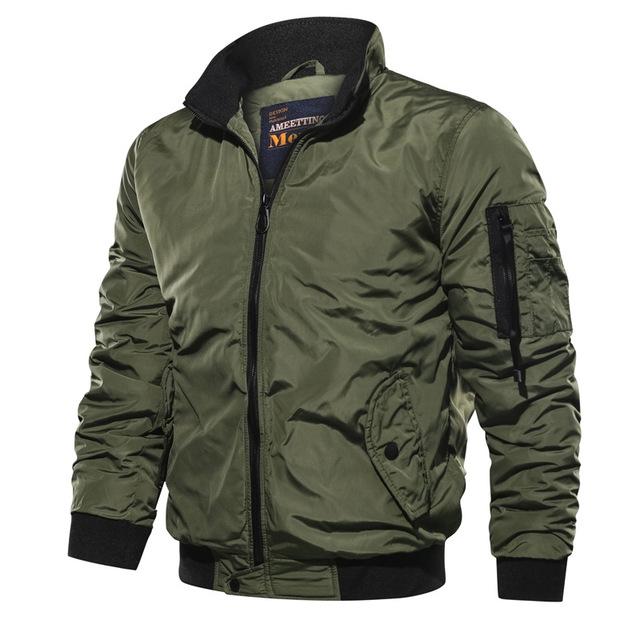 Áo khoác Xuyên biên giới đặc biệt ngoại thương áo khoác nam mới thường áo khoác cổ áo màu rắn