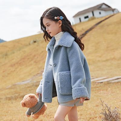 Áo khoác trẻ em Áo khoác bé gái mùa thu 2019 mới của trẻ em Hàn Quốc lớn bé em bé nhung áo nhung một