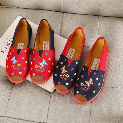 Giày Loafer / giày lười Dry Yude 2019 Thomas giày cũ Bắc Kinh cũ giày vải nữ giản dị giày nông miện