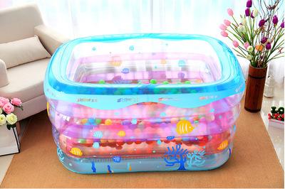 YINTAI bể bơi trẻ sơ sinh Bể bơi trẻ em Yingtai trẻ sơ sinh tắm xô trẻ em bể bơi bơm hơi dày pad hồ