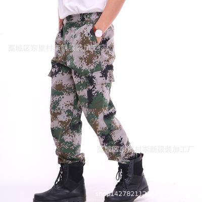 Đồ chống nắng mau khô Nhà máy giải trí trực tiếp 07 quần kỹ thuật số đào tạo đại học quân đội ngụy t