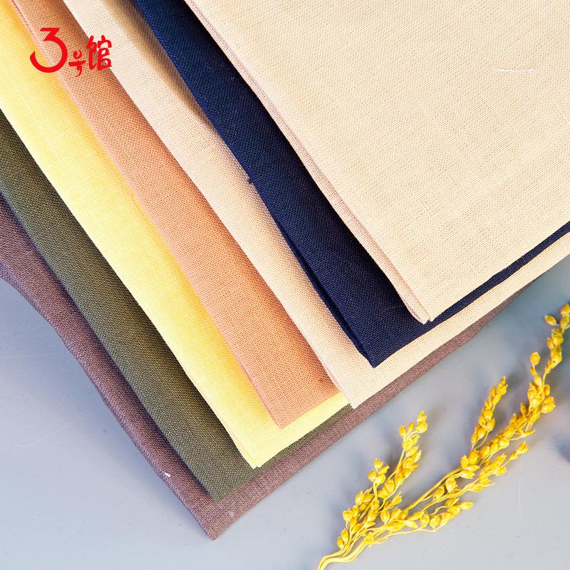 3 HAO GUAN Vải Cotton pha Nhà máy trực tiếp 60 ramie vải cotton và vải lanh pha trộn vải dệt nhà dệt