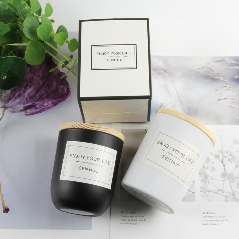 NLSX Nến Nhà sản xuất cung cấp nến không khói sáp trung tính nến thơm nến đen thủy tinh nến thơm