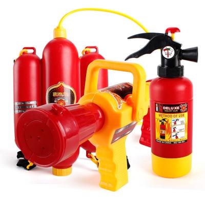 Đầu vòi chữa cháy Ba lô súng nước mùa hè trẻ em hoạt hình kéo lửa chữa cháy bình nước súng nhựa nhựa