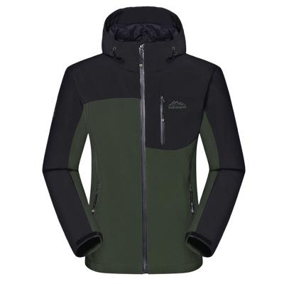 Lót nỉ Soflshell Quần áo vỏ mềm nam ngoài trời phí áo khoác lông cừu mùa thu và mùa đông dày ấm áp á