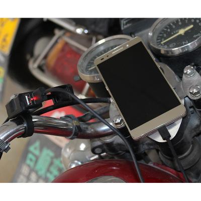 Đầu cắm sạc Xe điện đôi usb sạc điện thoại di động bật 5V2a xe sạc không thấm nước sửa đổi xe máy sạ