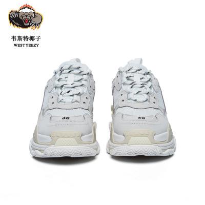 Giày tăng chiều cao Mùa thu và mùa đông ấm siêu siêu giày cũ Giày shuntian xu hướng sáu lớp da lợn đ