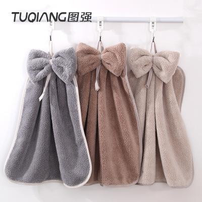 TUQIANG khăn lau tay Hình khăn dễ thương treo khăn siêu thấm khăn nhà bếp khăn tay khăn tắm