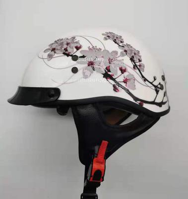 Mũ bảo hiểm xe đạp Mới scoop mũ bảo hiểm retro một nửa mũ bảo hiểm đầu máy mũ bảo hiểm xe máy mũ bảo