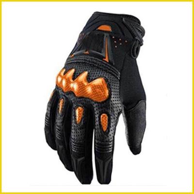 Găng tay bảo hộ Găng tay đi xe đạp xuyên quốc gia bảo vệ leo núi sợi carbon da nguyên chất găng tay