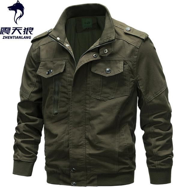 ZHENTIANLANG Áo khoác xuyên biên giới độc quyền áo khoác cotton quân đội nam áo khoác cỡ lớn áo khoá