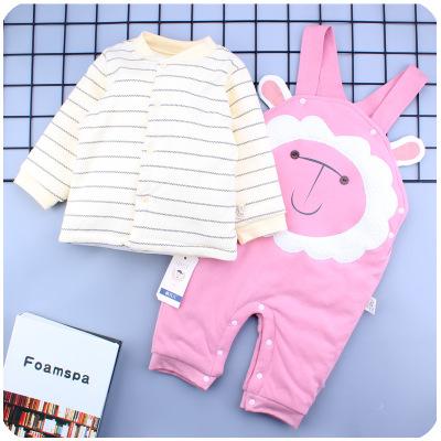 Thị trường trang phục trẻ em 18 chiếc áo khoác cotton dày hai bộ quần áo trẻ em mùa đông quần áo trẻ