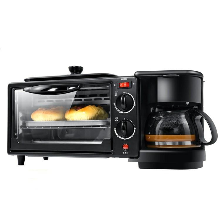 OEM Lò vi sóng, lò nướng Máy ăn sáng đa chức năng máy pha cà phê lò nướng điện mini ba trong một máy