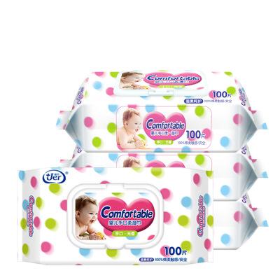 JER Khăn ướt Khăn lau tay cho trẻ sơ sinh với 100 lần lau tay với khăn lau sơ sinh Khăn lau sạch khô
