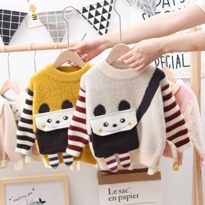 Thị trường trang phục trẻ em Phiên bản Hàn Quốc của mùa thu 2019 áo len trẻ em mới cho bé trai và bé