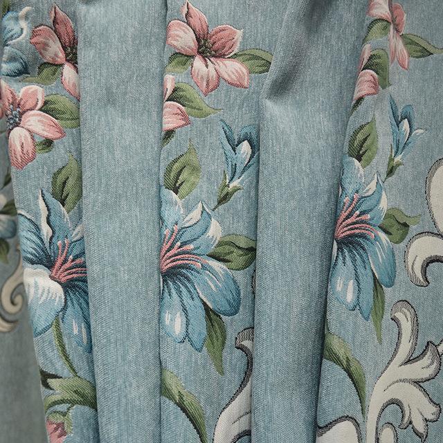 JUMEIJIA Vải rèm cửa Túi kẹp tóc Cao cấp rèm cửa nhà máy rèm cửa Châu Âu chenille jacquard rèm vải P