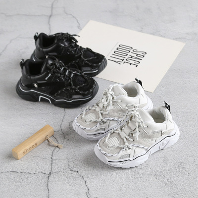 Giày lưới 2019 mùa thu mới ck giày thể thao trẻ em Thời trang nam và nữ giày dép trẻ em lưới thoáng