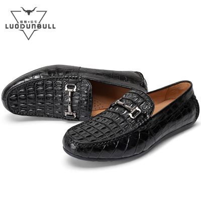 Giày mọi đế thấp Giày da cá sấu thường bán buôn Quảng Châu da đậu Hà Lan nhà máy Giày da cá sấu Giày